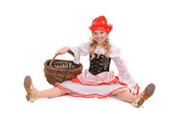 Pretty girl as Little Red Cap Royalty Free Stock Images