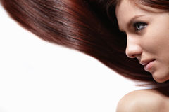 A pretty girl with beautiful hair Royalty Free Stock Photos