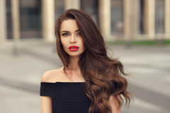 Pretty girl beauty portrait Royalty Free Stock Photos