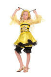 Pretty girl with in the bee dress with funny face Stock Photo
