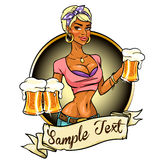 Pretty girl with beer Royalty Free Stock Image