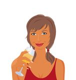 Pretty girl with beverage Royalty Free Stock Photography
