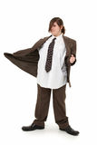 Pretty Girl in Big Suit Royalty Free Stock Photos