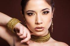 Pretty girl with bijouterie. Fashion photo. Stock Image