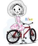 Pretty girl and bike Royalty Free Stock Photo