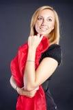 Pretty girl in black Stock Photography
