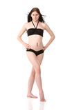 Pretty girl in black bikini Royalty Free Stock Photography