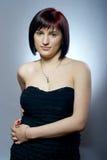 Pretty girl in black dress Stock Photo