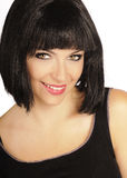 Pretty girl with black hair smiling Royalty Free Stock Photo