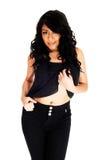 Pretty girl in black. Royalty Free Stock Photos