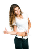 Pretty girl with blank t-shirt Royalty Free Stock Images