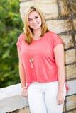 Pretty girl blonde teenager Stock Image