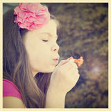 pretty girl blowing bubbles Stock Photography