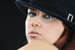 Pretty girl in bonnet Stock Photo