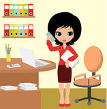 Pretty girl - business woman Stock Photography