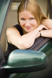 Pretty girl in the car Royalty Free Stock Photos