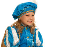 Pretty girl in a carnival suit Stock Image