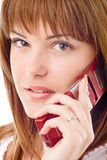 Pretty girl on cell phone Stock Image