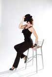 Pretty girl on chair Royalty Free Stock Image