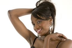 Pretty girl with a cheeky smile Royalty Free Stock Image