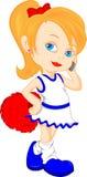 Pretty girl cheerleader Stock Photo