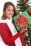 Pretty girl at Christmas Royalty Free Stock Images