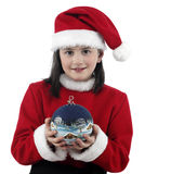 Pretty girl with Christmas clothes Stock Photo