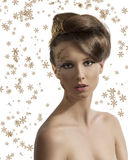 Pretty girl with christmas decoration Royalty Free Stock Images