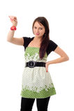 Pretty girl with Christmas decoration Stock Images