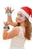 Pretty girl with christmas toys Stock Photo