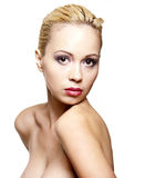 Pretty girl with a clean skin Royalty Free Stock Images
