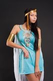 Pretty girl in Cleopatra role Royalty Free Stock Photography