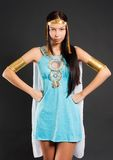Pretty girl in Cleopatra role Stock Images