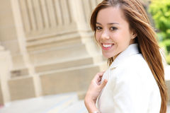 Pretty Girl at the College Campus Stock Photography
