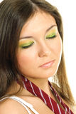 Pretty girl with colorful makeup Stock Photos