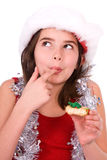 Pretty girl with cookie. Stock Photos