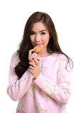 Pretty girl with cookie. Stock Photography