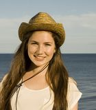 Pretty girl in a Cowboy hat Royalty Free Stock Images