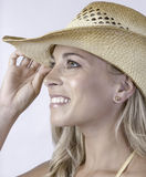 Pretty Girl in Cowboy Hat Royalty Free Stock Photography