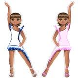 Pretty girl dancer in a beautiful dress Stock Photo