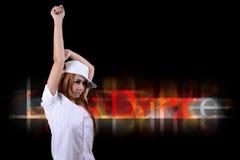 Pretty girl dancing. Stock Image