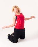 Pretty girl dancing Royalty Free Stock Image