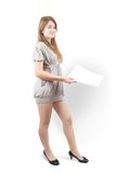 Pretty girl with documents Stock Photography