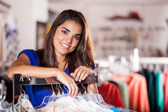 Pretty girl doing some shopping Royalty Free Stock Photography