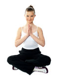 Pretty girl doing yoga Royalty Free Stock Photography