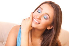Pretty girl dreams Stock Images