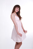 Pretty girl in a dress Stock Photography