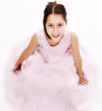 Pretty  girl dressed in pink Royalty Free Stock Images