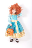 Haloween Girl. A pretty girl dressed up to go trick or treating stock image