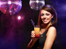 Pretty girl with a drink Royalty Free Stock Photo